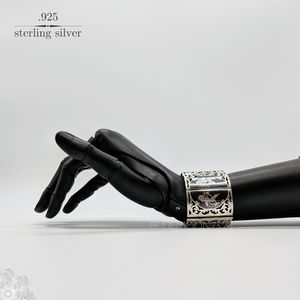 Gorgeous Vintage Siam Sterling Silver Bracelet 6.5